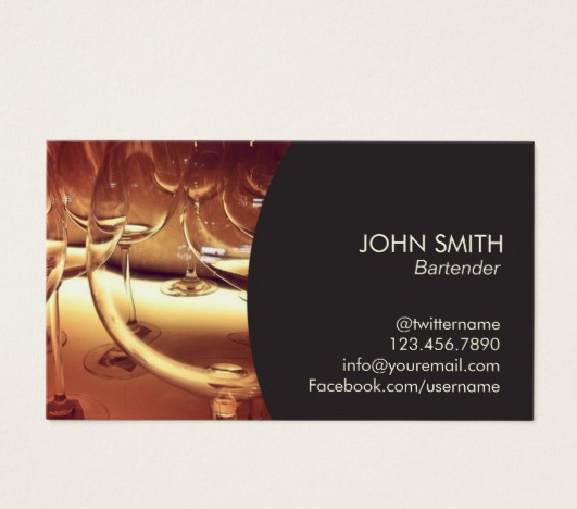 Corporate Bartender Business Card