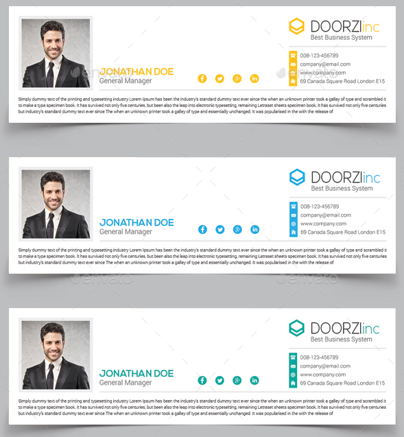 creative email signature template