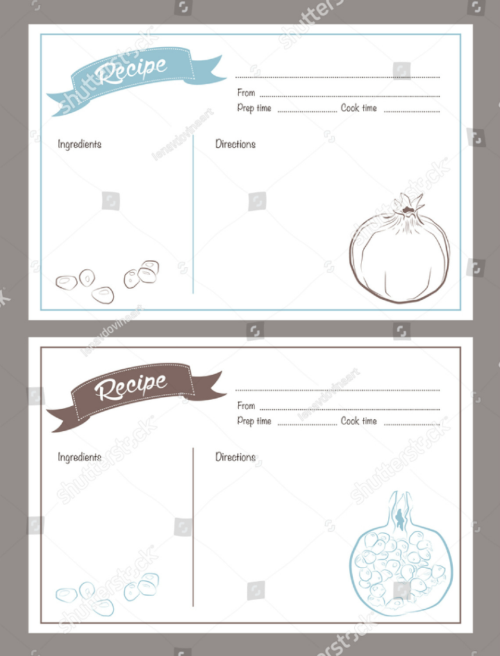 14  restaurant recipe card templates  u0026 designs
