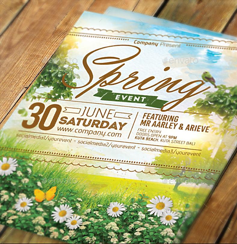 Daisies Spring Event Invitation