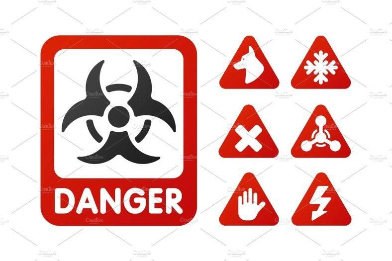 Danger Warning Prohibited Sign