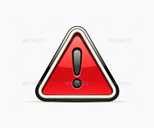 Danger Warning Red Sign