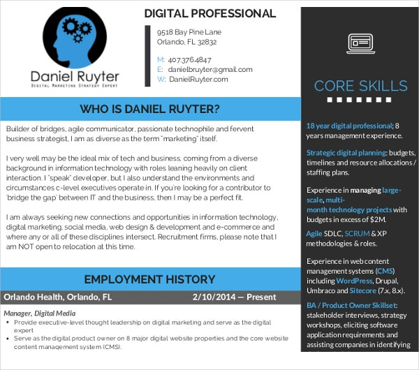 45  marketing resume templates