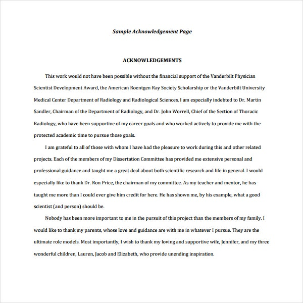 Acknowledgement Report Samples  Pdf  Free  Premium Templates