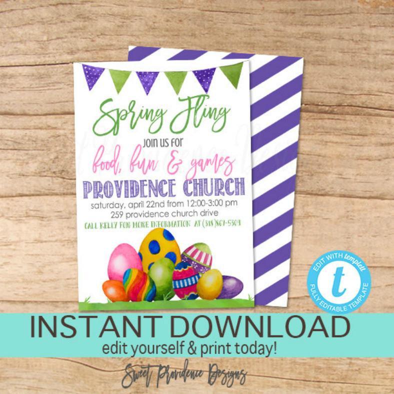 Easter Spring Fling Invitation