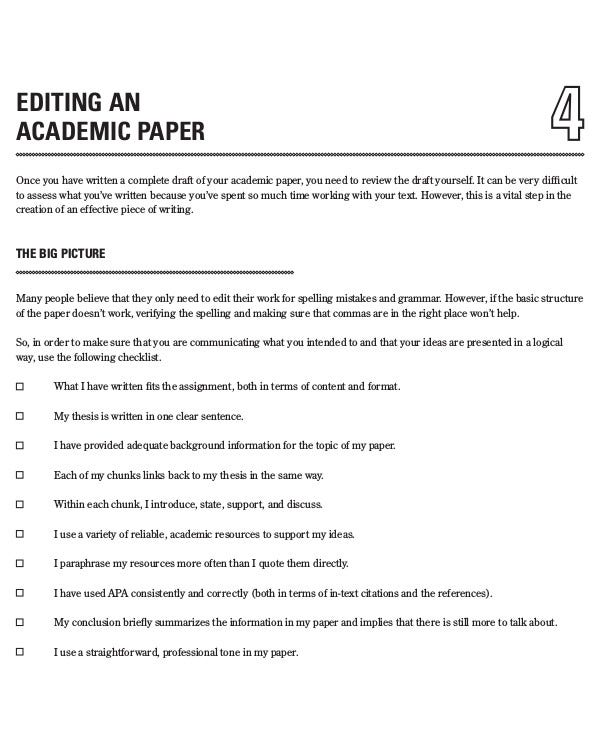 edit an academic paper