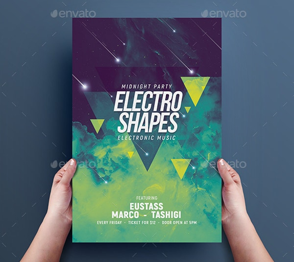 Electro Shape Flyer Template