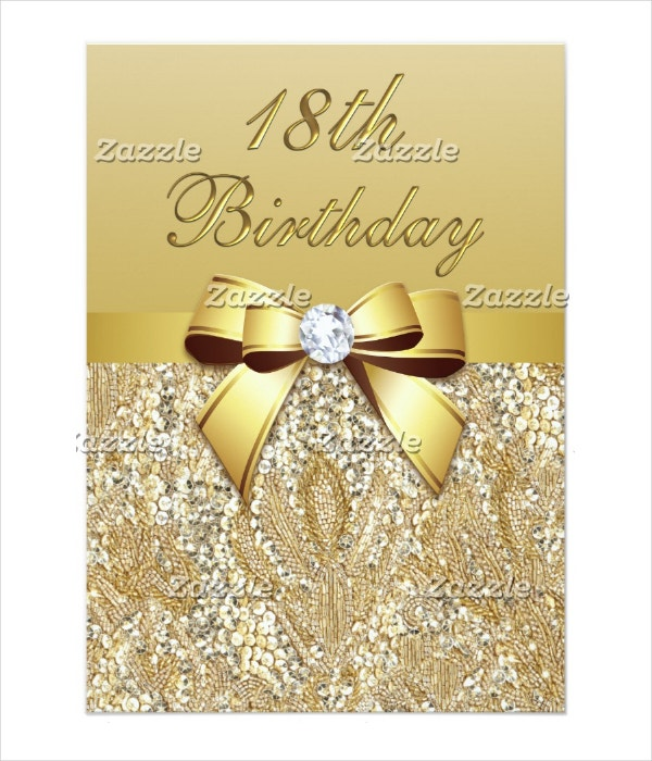 Elegant 18th Birthday Invitation