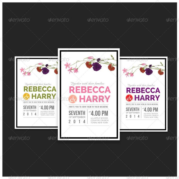 elegant vintage wedding invitation printable template