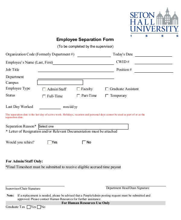 employee-separation-form