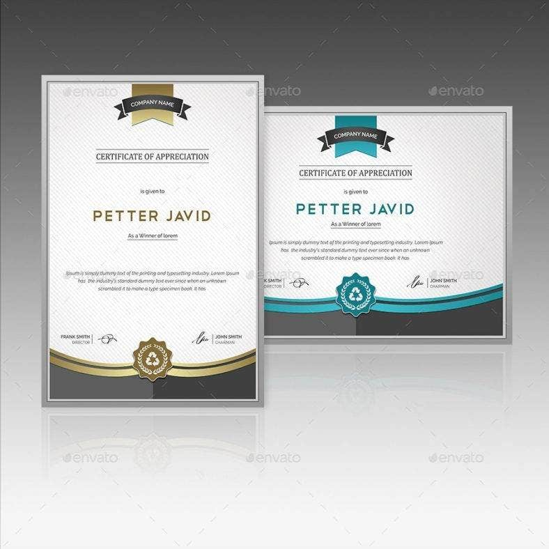 11 worlds best award certificate designs amp templates