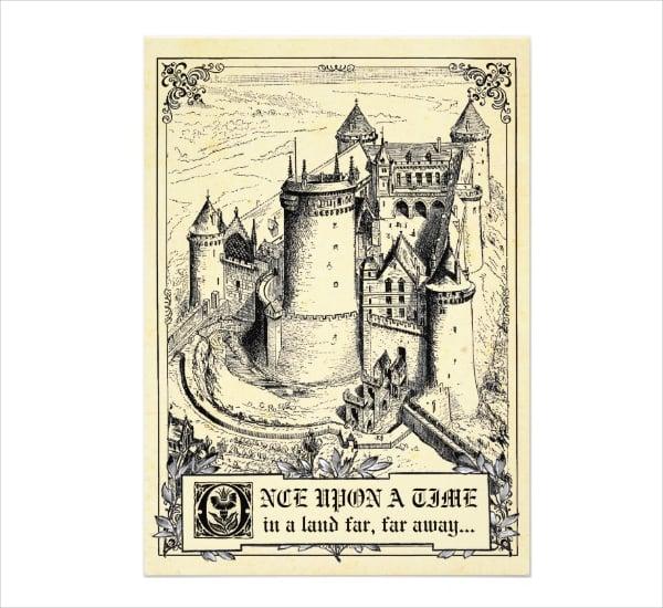 Fairy Tale Storybook Wedding Invitation