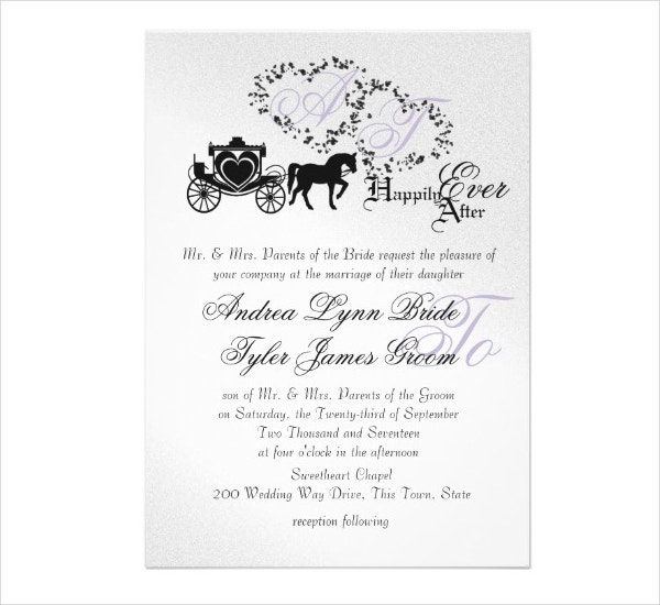 11 Fairytale Wedding Invitation Designs Templates PSD AI