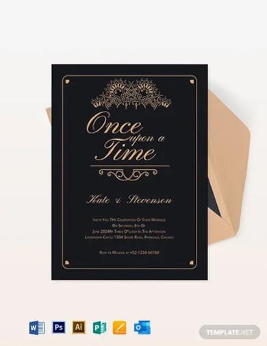 fairytale wedding invitation template