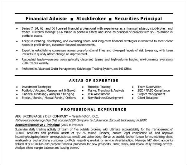 20  finance resume templates