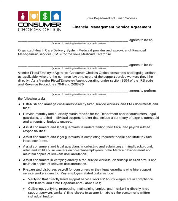 financial management service agreement