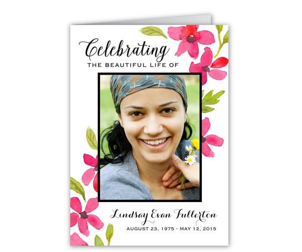 floral-memorial-card-template