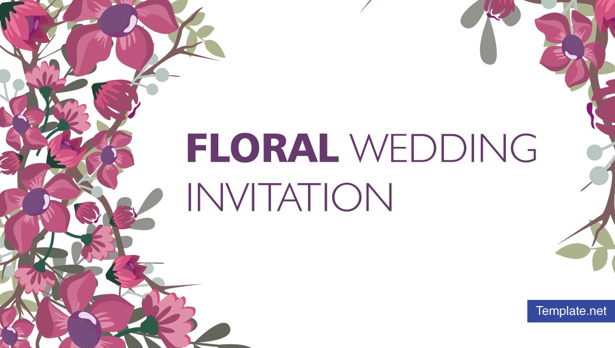 15 Floral Wedding Invitation Designs Templates