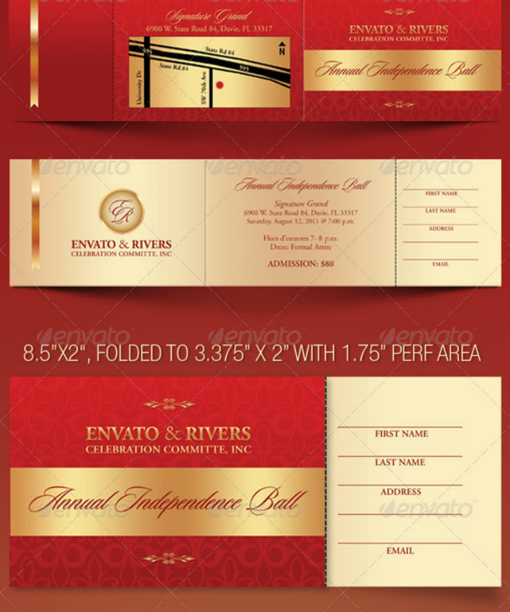 folded restaurant anniversary invitation template