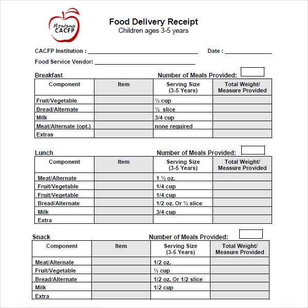 4 Goods Delivery Receipt Templates Pdf Free Premium Templates