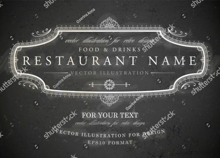 framed-vintage-floral-restaurant-name-board-vector-template