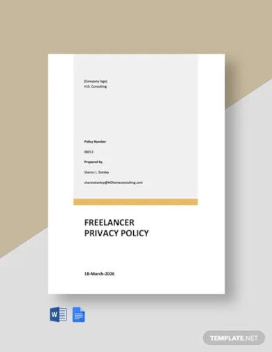 freelancer privacy policy template