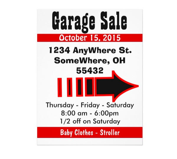 Garage Sale Sign Flyer
