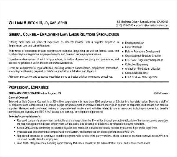 10  attorney resume templates