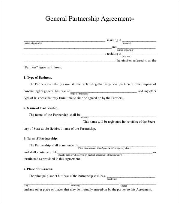 general partnership agreement1