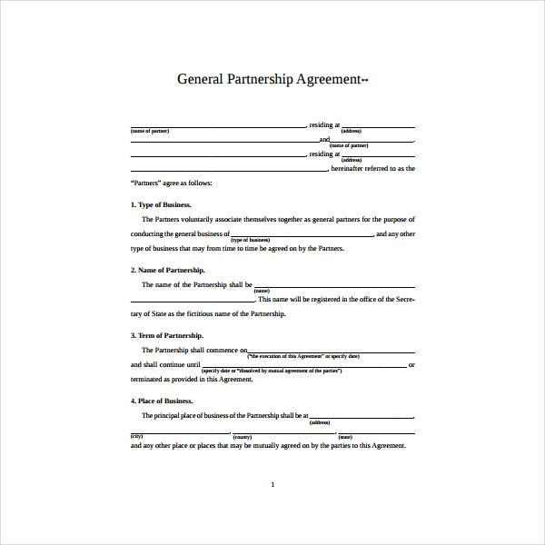 General Partnership Agreement