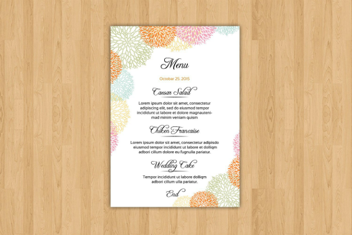 geometric-design-wedding-reception-menu-template