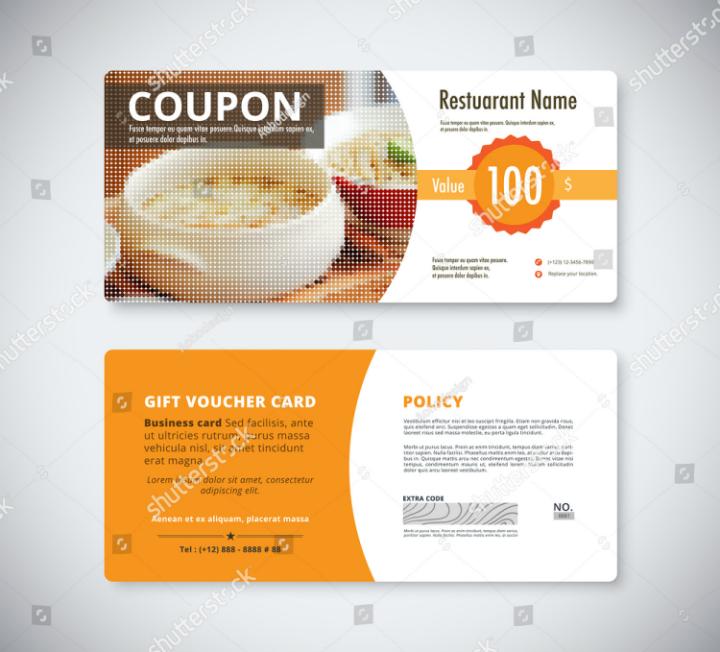 gift coupon promo card template