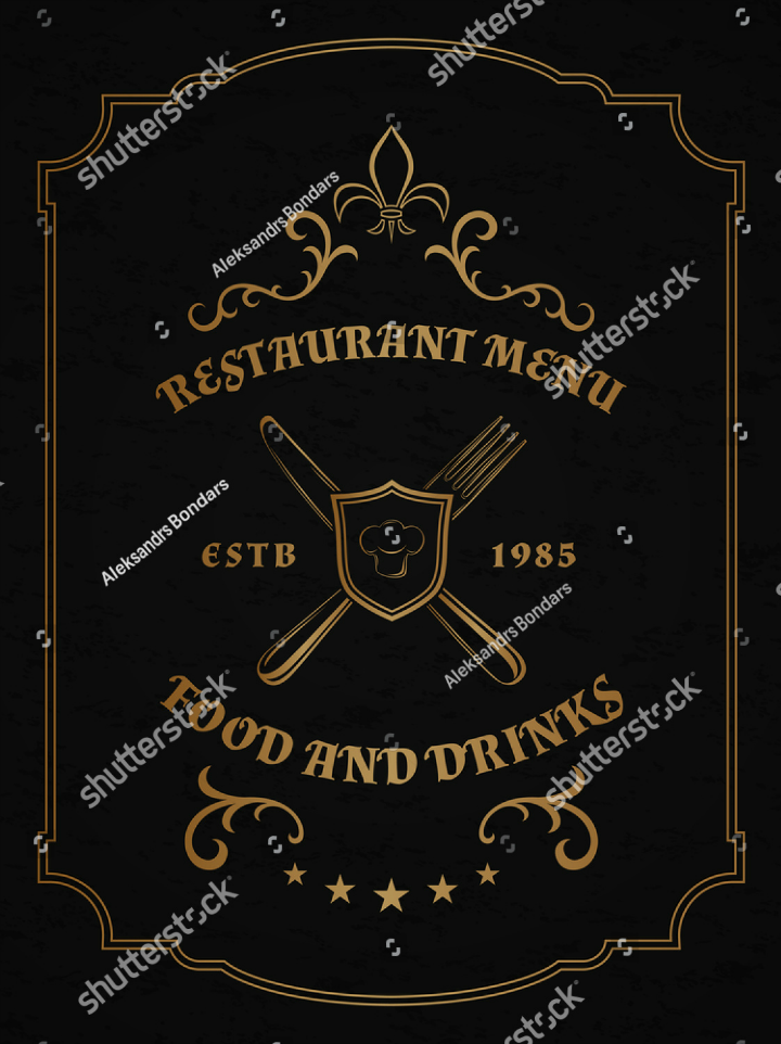 golden-accent-cafe-restaurant-name-board-template