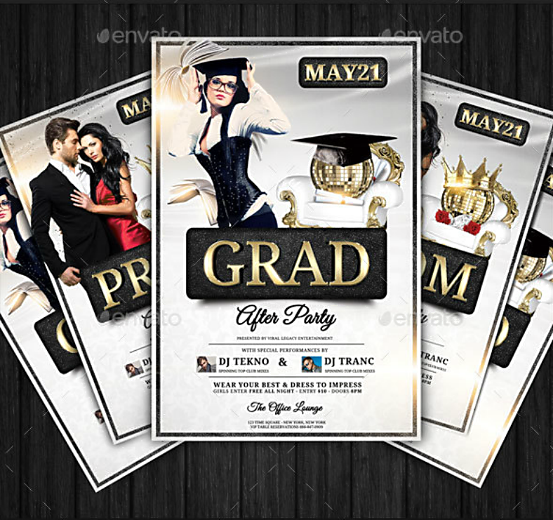 Grad Prom After Party Flyer