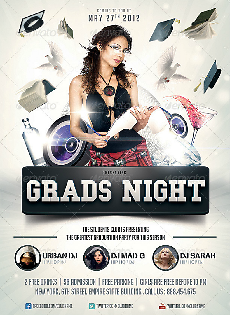 Grads Night Prom Flyer Template