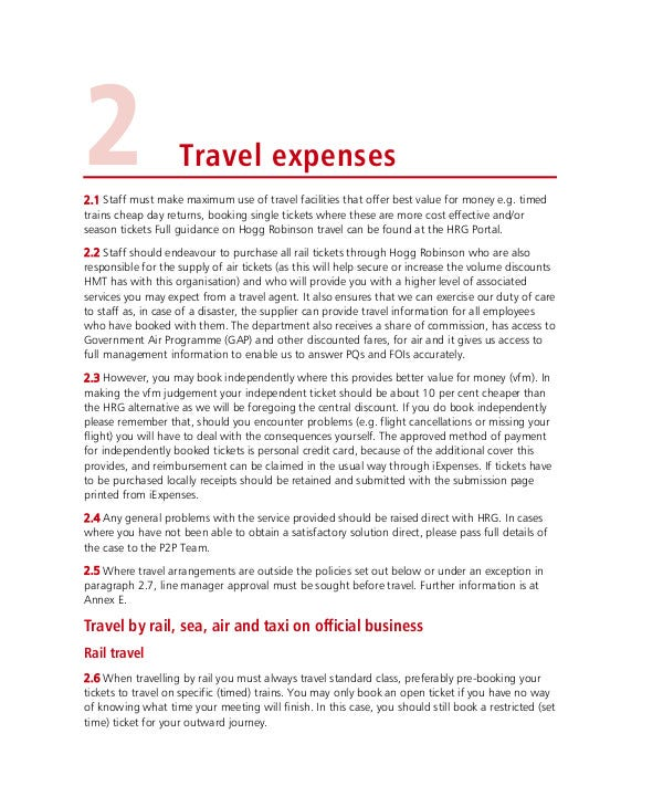 Group Travel and Expenses Policy