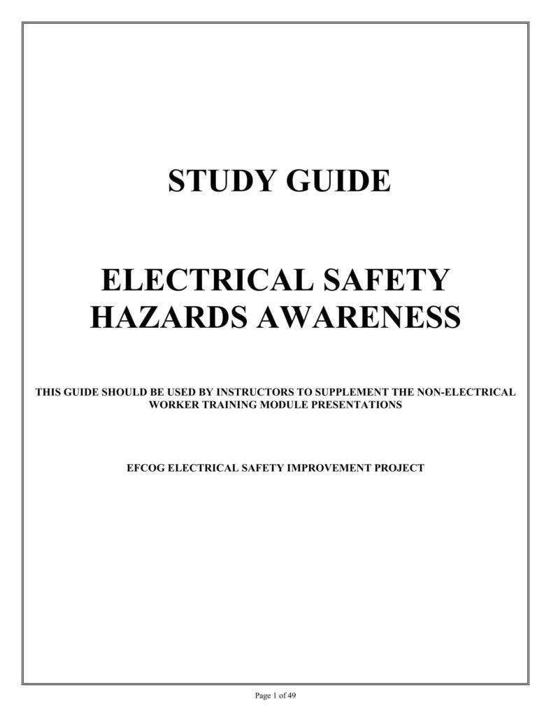 Guide for Electrical Safety