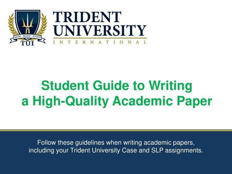 Guide to Writing an Academic Paper