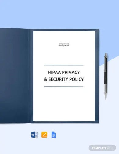hipaa privacy and security policy template