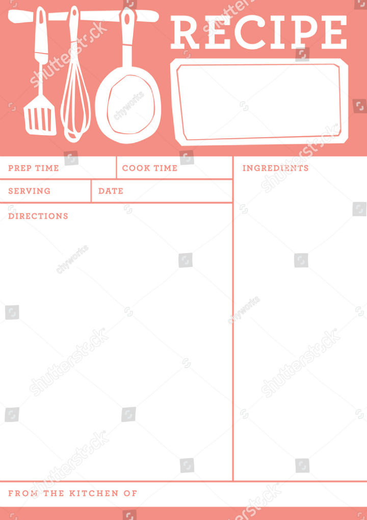 Free Scratch Cards >> 14+ Restaurant Recipe Card Templates & Designs - PSD, AI | Free & Premium Templates
