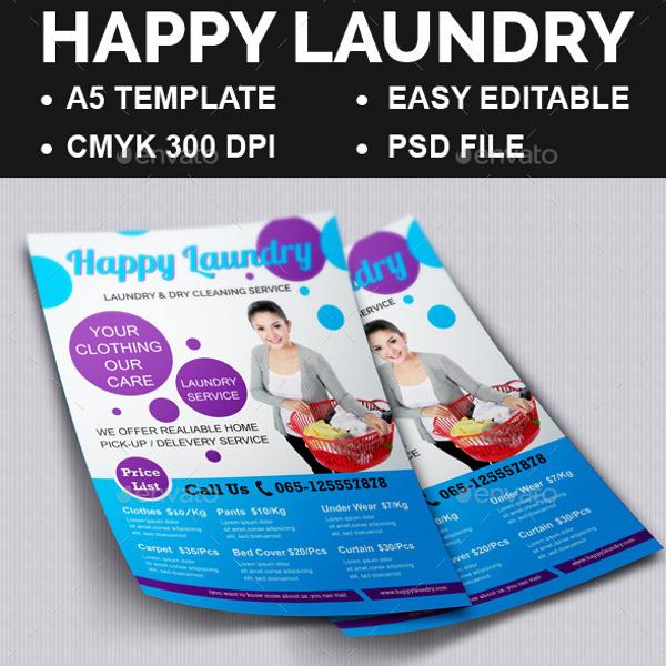 Happy Laundry Flyer