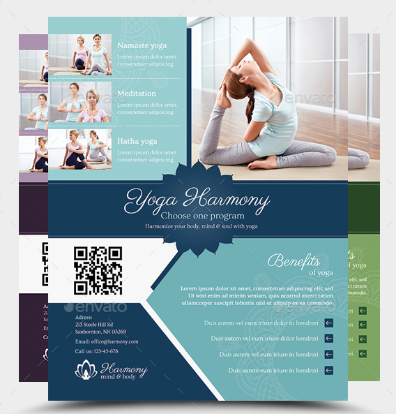 harmony yoga flyer template