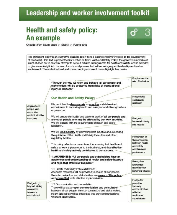 Free Workplace Safety Policy Templates  Pdf  Free  Premium