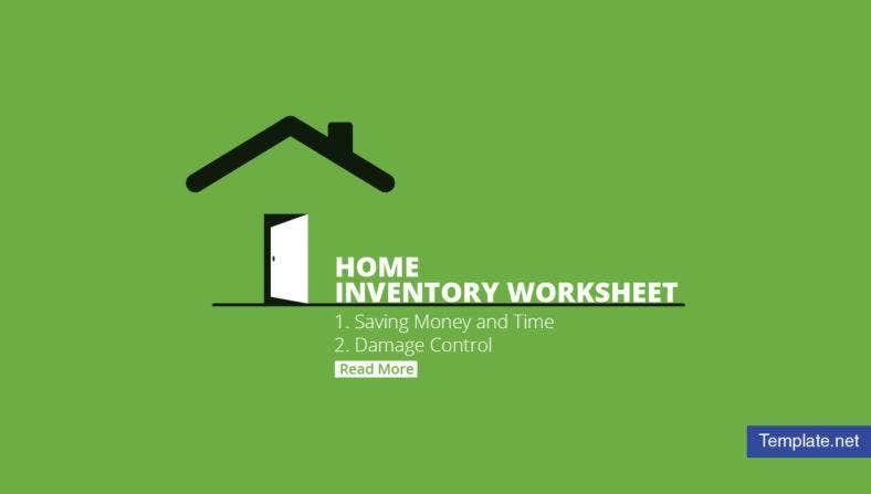 Home Inventory Worksheet Templates