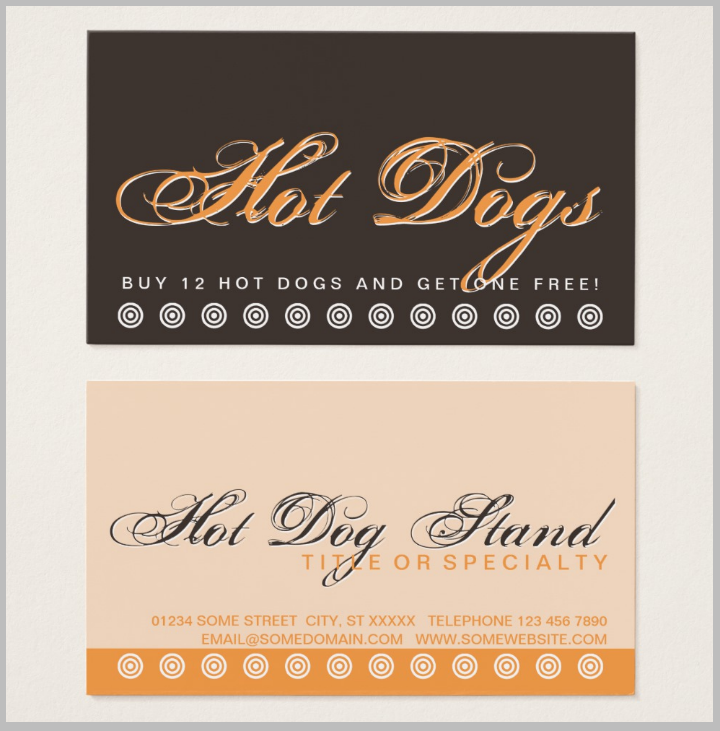 hot-dog-restaurant-punch-card-template