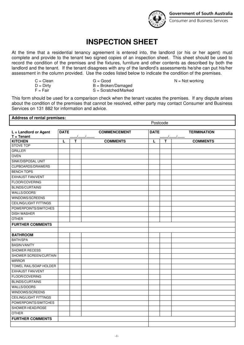 10 inspection worksheet templates free premium templates for Ohs inspection checklist template