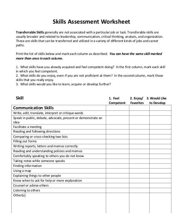 interpersonal-organizational-skills-assessment-worksheet
