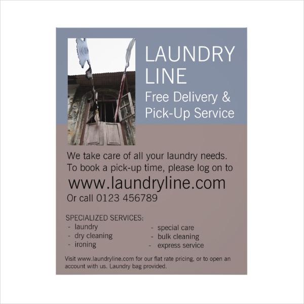 Laundry Flyer Sample