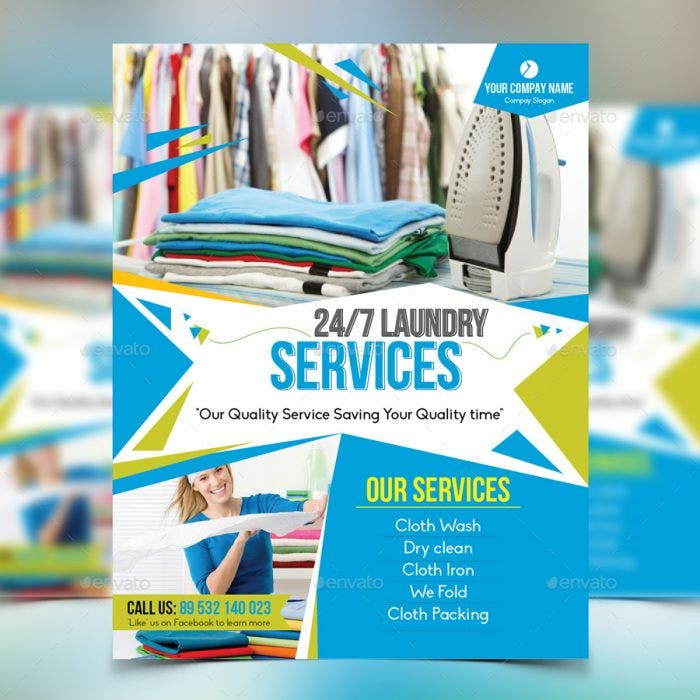 12 Laundry Flyer Designs Templates Psd Ai