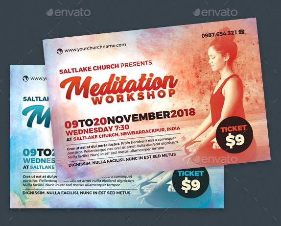 meditation workshop flyer